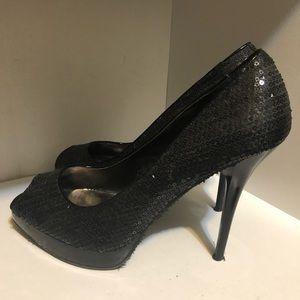 Steve Madden Black Sequin High Heels